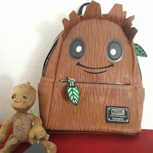 Disney Parks Groot Mini Magnetic Shoulder Guardians of the Galaxy Plush NWT